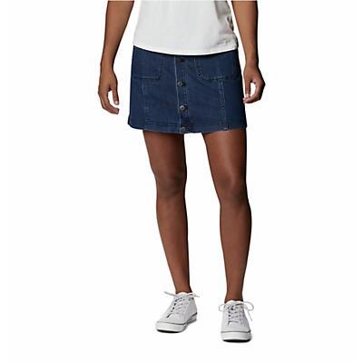 Columbia City Denim Skirt - Abyss Dark Denim - Women