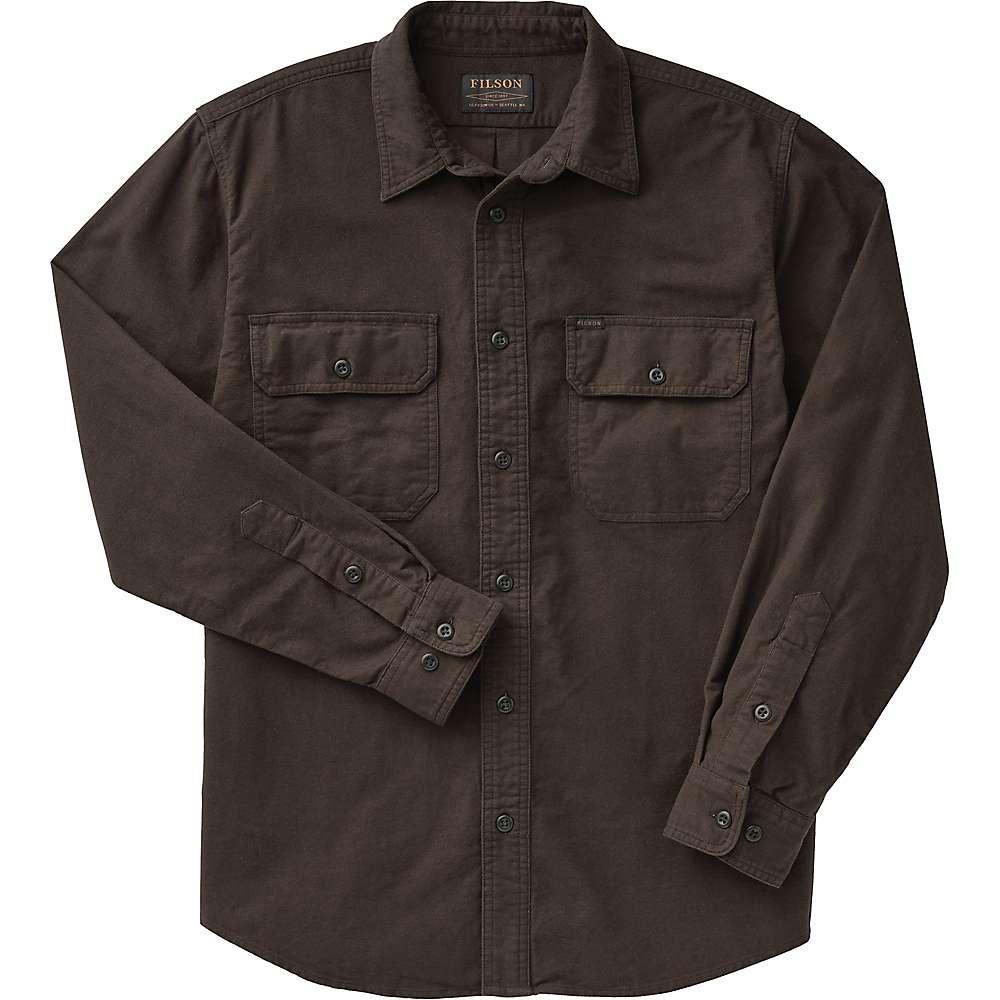 Reviews Filson Mens Field Flannel Shirt - L Long - Cigar Brown