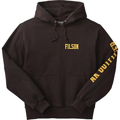 Filson Heavyweight 15-Oz. Fleece Pullover Hoodie - Graphic - Black - Men