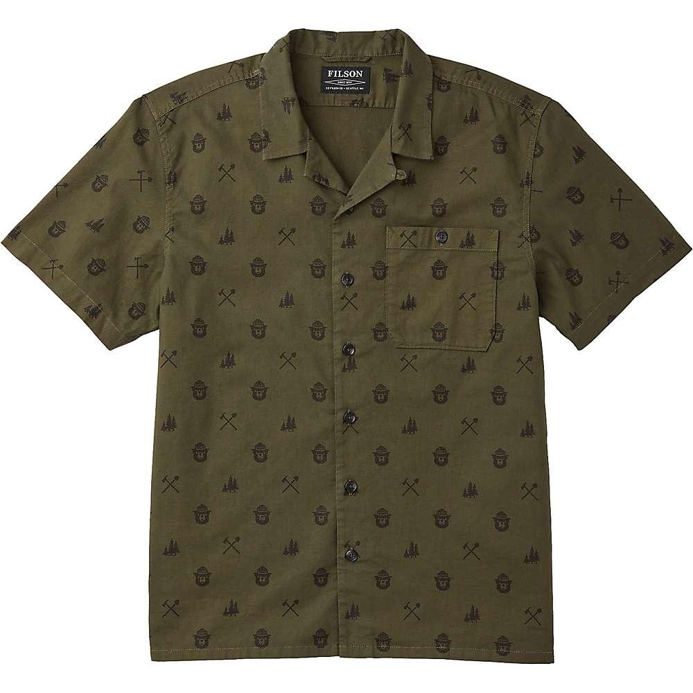 Best Filson Mens Smokey Bear Camp Shirt - XXL - Marsh Olive
