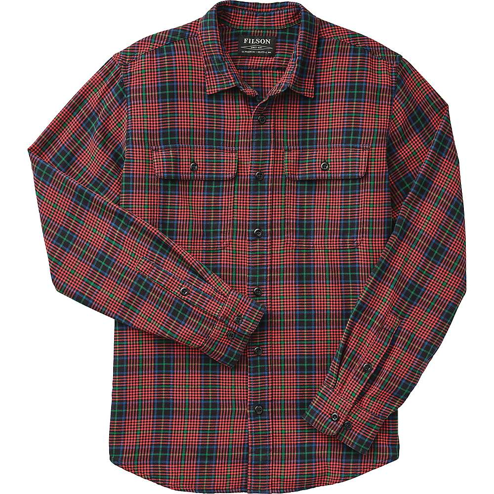 Coupons Filson Mens Washed Scout Shirt - XS - Black / Red / Green Plaid
