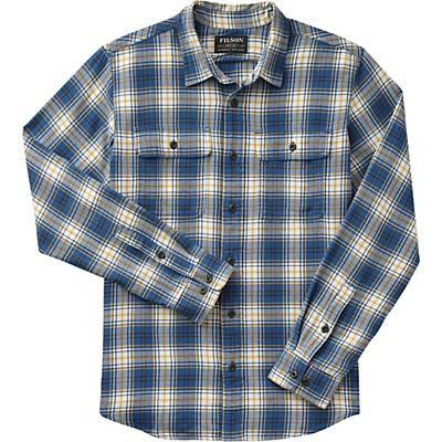 Filson Washed Scout Shirt - Blue / Gold / White Plaid - Men