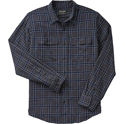 Filson Washed Scout Shirt - Faded Black / Indigo / White Plaid - Men