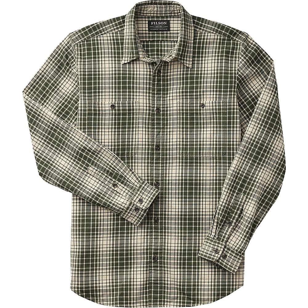 Reviews Filson Mens Wildwood Shirt - Large - Olive / Khaki Plaid