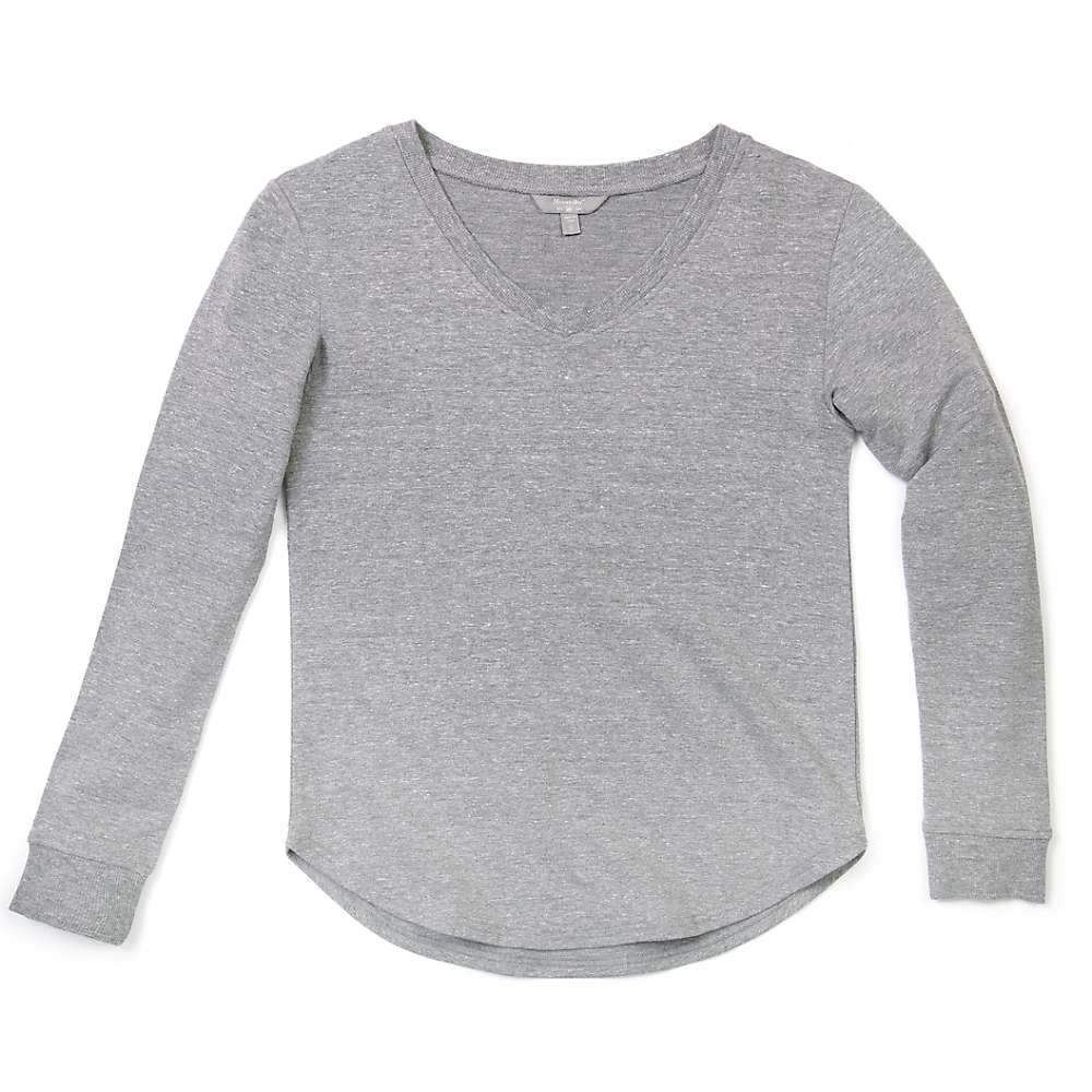 Compare Moosejaw Womens Lakeside Flowy Pullover - Large - Heather Grey