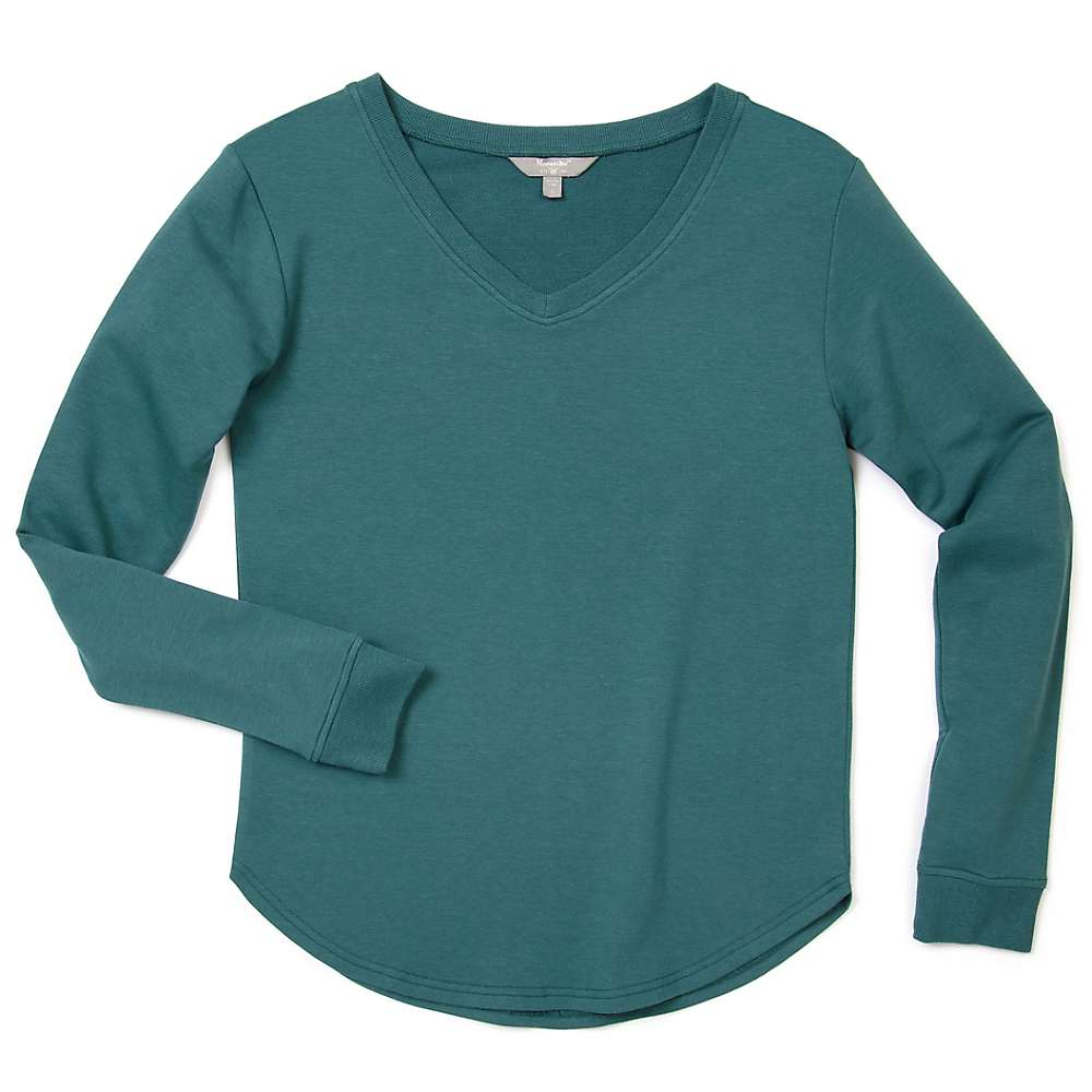 Top Moosejaw Womens Lakeside Flowy Pullover - Small - Heather Spruce