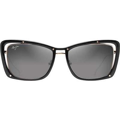 Maui Jim Adrift Polarized Sunglasses - Black Gloss / Shiny Gold / Neutral Grey