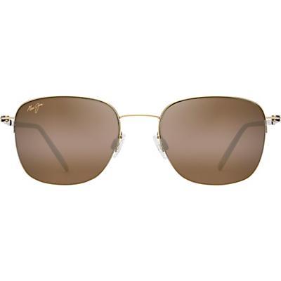 Maui Jim Crater Rim Polarized Sunglasses - Gold Matte / HCL Bronze