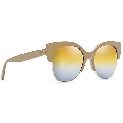 Maui Jim Mariposa Polarized Sunglasses - Silver Mink with Silver / Dual Mirror