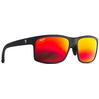 Maui Jim Manchester United Pokowai Arch Polarized Sunglasses - Matte Black / Hawaii Lava