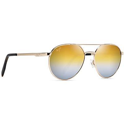 Maui Jim Waterfront Polarized Sunglasses - Gold Metal / Dual Mirror