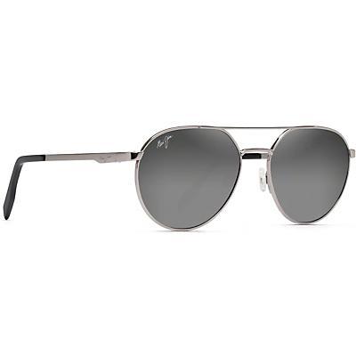Maui Jim Waterfront Polarized Sunglasses - Grey Metal / Dual Mirror