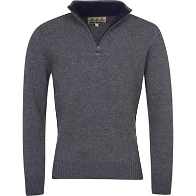 Barbour Nelson Essential Half Zip Sweater - Storm Grey - Men