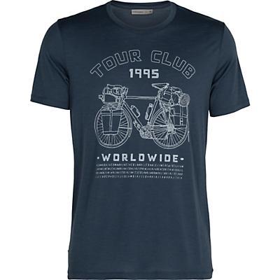 Icebreaker Men Tech Lite SS Crewe Tour Club 1995 - Serene Blue