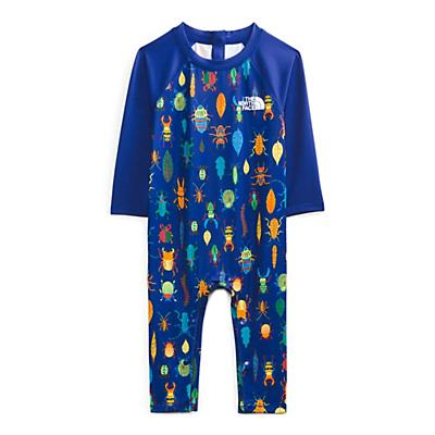 The North Face Infant Sun One Piece - 6-12M - Bolt Blue Critter Crawl Print