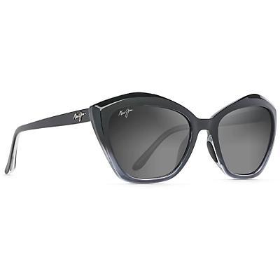Maui Jim Lotus Polarized Sunglasses - Black Fade / Neutral Grey