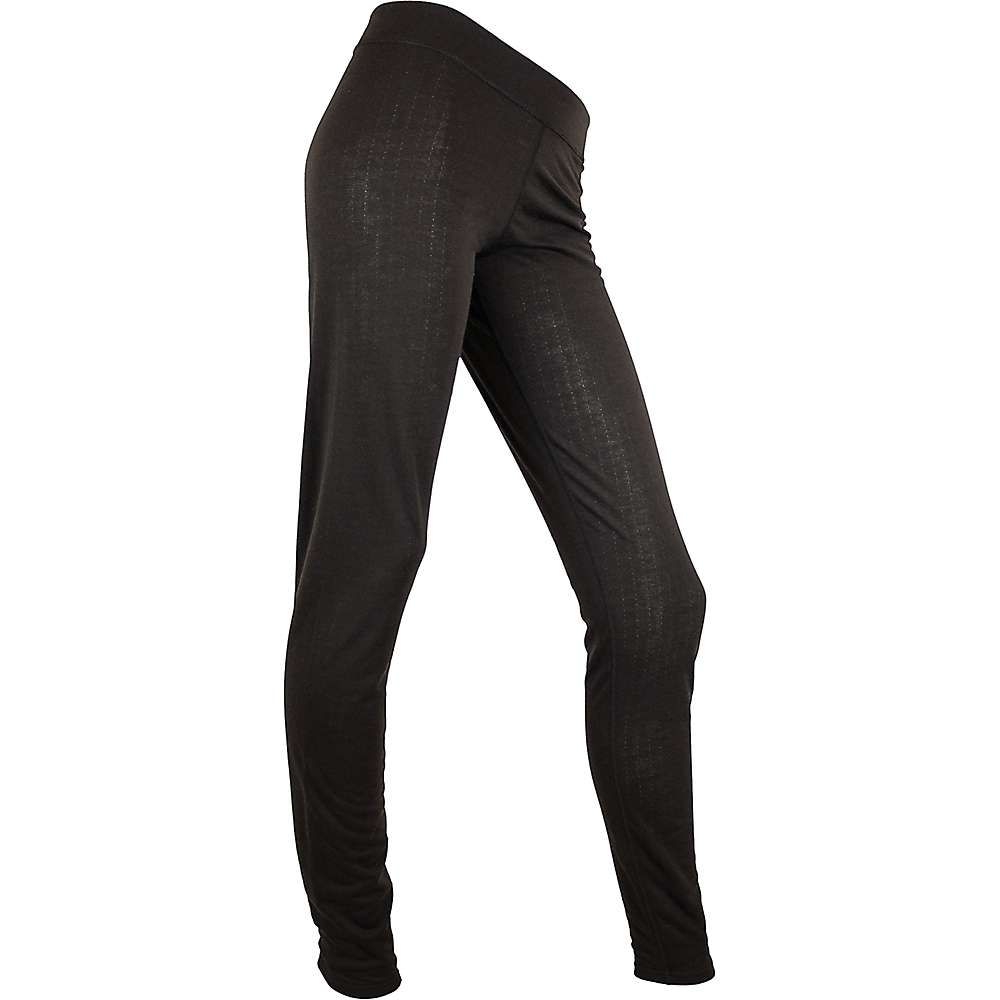 Polarmax Women's Double Base Layer Wide Waistband Pant – XS – Black