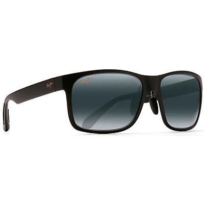 Maui Jim Red Sands Polarized Sunglasses - Asian Fit - Matte Black / Neutral Grey