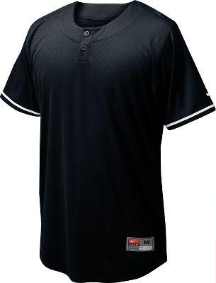 Nike Youth Ace Mesh 2 Button Henley Baseball Jersey Baseball