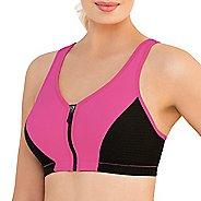 Womens Glamorise High Impact Zipper Front Sports Bras - Pink 46G