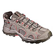 Womens Salomon Techamphibian 3 Hiking Shoe - Khaki/Coral 9