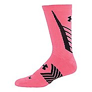 Under Armour Undeniable Crew Socks - Cerise/Black L