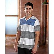 Mens R-Gear Rock Solid Stripe Tee Short Sleeve Technical Top - White XXL