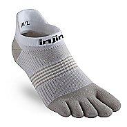 Womens Injinji RUN Lightweight No Show CoolMax Socks - White/Sand M/L