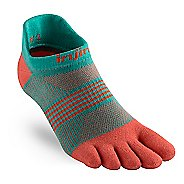 Womens Injinji RUN Lightweight No Show CoolMax Socks - Guava M/L