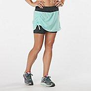 Womens R-Gear Winning Combo Skort Fitness Skirts - Sea Glass/Black L