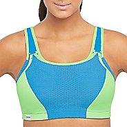 Womens Glamorise Double Layer Custom Control D/DD/F/G/H Sports Bras - Blue/Green 34H