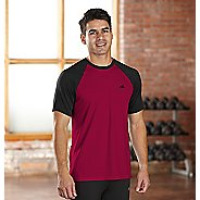 Mens R-Gear Base Runner Short Sleeve Technical Top - Flame/Black S