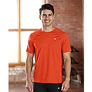 Mens R-Gear Training Day Short Sleeve Technical Tops - Heather Flame S