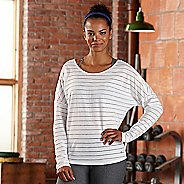 Womens R-Gear Stripe Hype Long Sleeve Technical Tops - White M