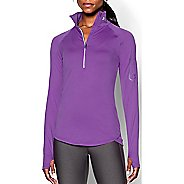 Womens Under Armour Fly Fast 1/2 Zip Long Sleeve Technical Tops - Mega Magenta M