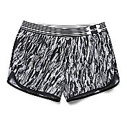 Womens Under Armour Printed Perfect Pace Lined Shorts - Black/Black M