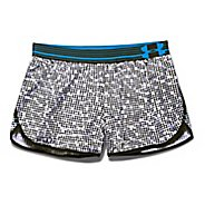 Womens Under Armour Printed Perfect Pace Lined Shorts - Black L