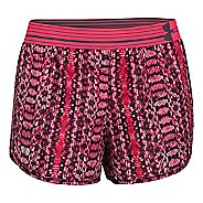 Womens Under Armour Printed Perfect Pace Lined Shorts - Pink Shock/Pink L