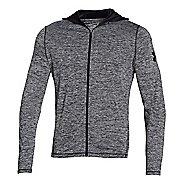 Mens Under Armour Longsleeve Tech Full-Zip Hoodie & Sweatshirts Technical Tops - Black Twist M