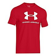 Mens Under Armour Charged Cotton Sportstyle Logo Short Sleeve Technical Tops - Red XXL