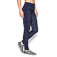 Womens Under Armour Coldgear Printed Legging Full Length Tights - Blue Knight/Veneer M
