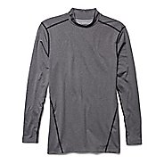 Mens Under Armour Coldgear Armour Compression Mock Long Sleeve No Zip Technical Tops - Heather ...
