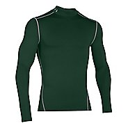 Mens Under Armour Coldgear Armour Compression Mock Long Sleeve No Zip Technical Tops - Forest ...