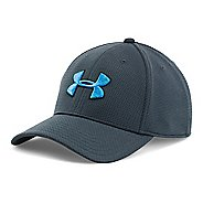 Mens Under Armour Blitzing II Stretch Fit Cap Headwear - Stealth Grey/Black M/L