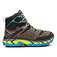 Mens Hoka One One Tor Ultra Hi WP Hiking Shoe - Grey/Cyan 10