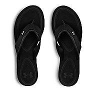 Womens Under Armour TropicFlo LTH T Sandals Shoe - Black/Aluminum 7