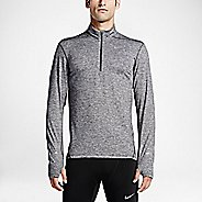 Mens Nike Dri-FIT Element Long Sleeve Half Zip & Hoodies Technical Tops - Dark Grey S