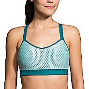 Womens Brooks UpRise Crossback Sports Bra - Market Haze/Dahlia XS