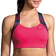 Womens Brooks UpLift Crossback Sports Bra - Dahlia/Market Haze S