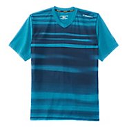 Mens Brooks Fly-By Short Sleeve Technical Tops - Heather River Blur S
